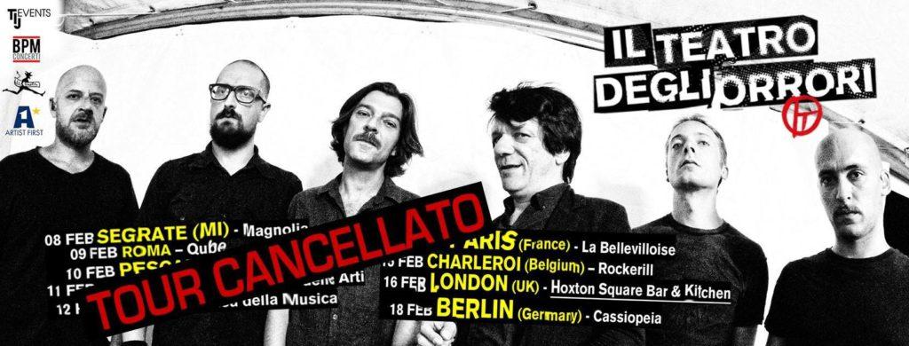 Canceled: Teatro degli Orrori European tour