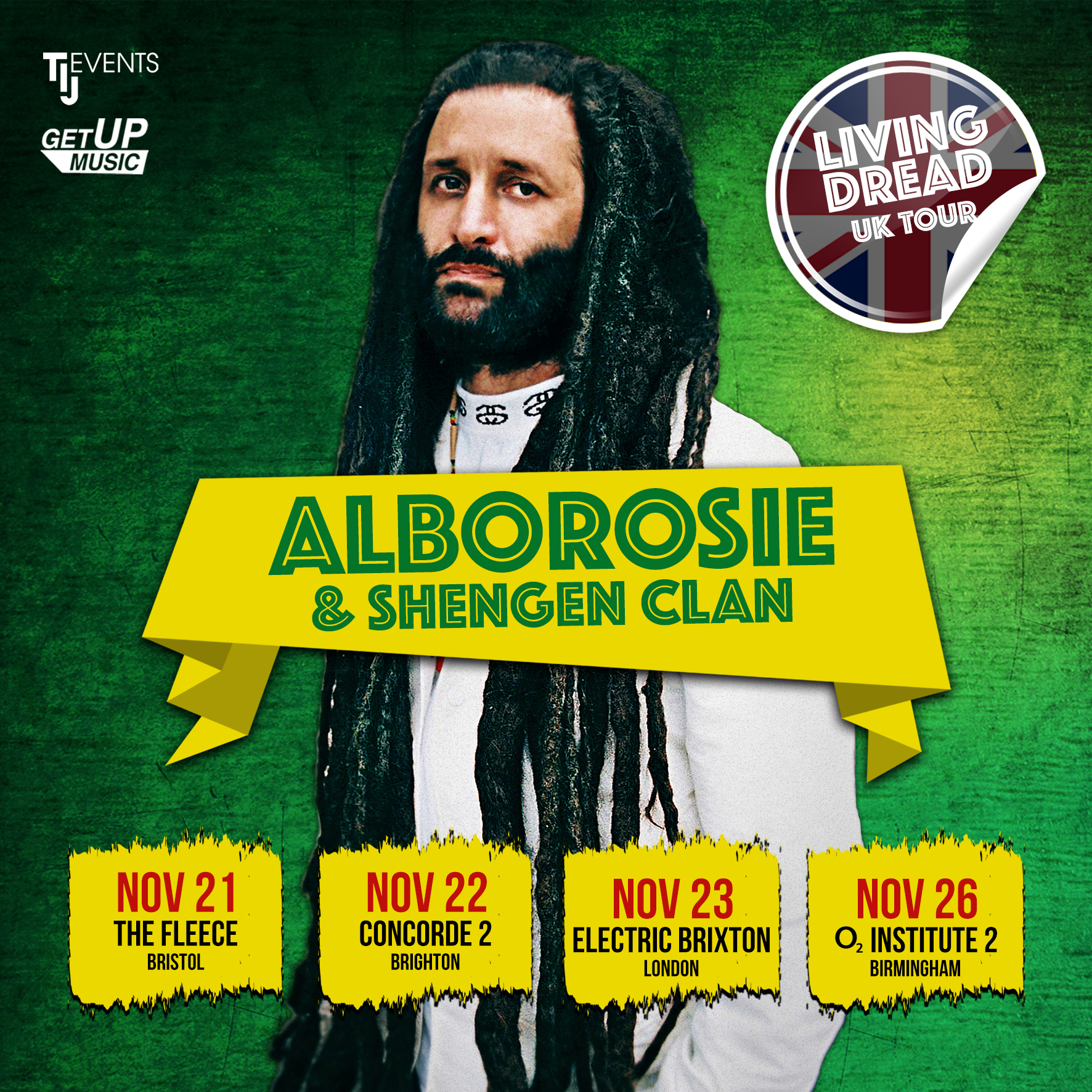 Alborosie UK tour