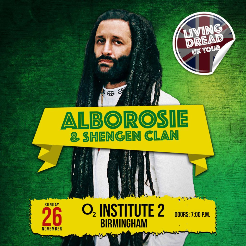 Alborosie Birmingham UK tour